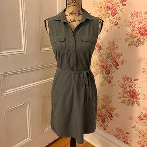 Eddie Bauer Solid Gray Dress